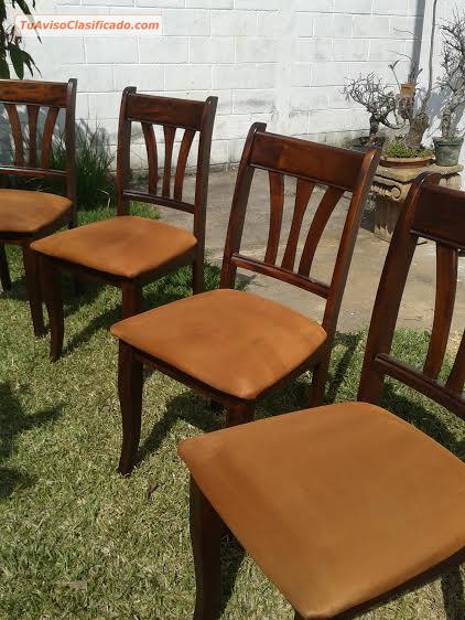 Amueblado de comedor redondo de 4 sillas mobiliario y for Mobiliario comedor