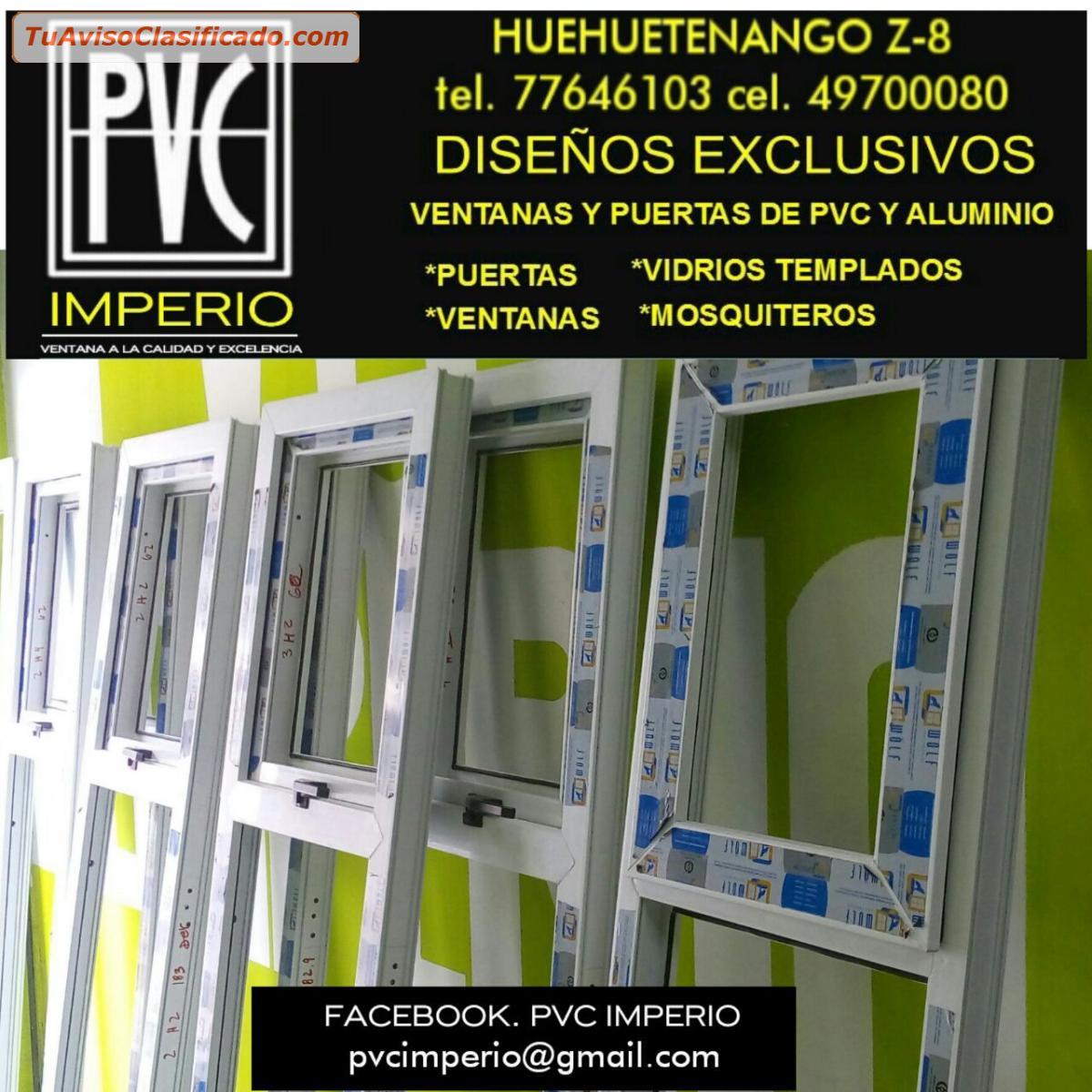 VENTANAS Y PUERTAS DE PVC Y ALUMINIO EN GUATEMALA - Servicios y Co...