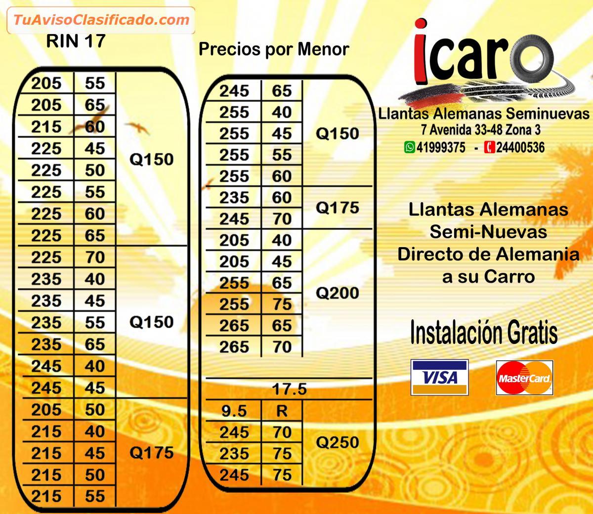 llantas usadas en espana: