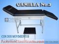 Mobiliario Clinico, Hospitalario. Camillas, Camilla No. 2 Con Grada Incluida y Estribos