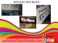 ROTULOS TIPO BLOCK Y CENEFAS
