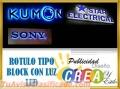 ROTULOS TIPO BLOCK CON ILUMINACION CONTACTENOS