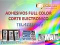 Adhesivo full color corte electrónico
