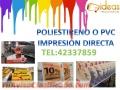 Poliestireno o Pvc Impresión Directa
