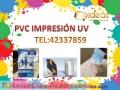 Trabajos de Pvc impresión directa o con adhesivo