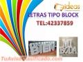 Letras tipo Block Con servicio de Instalación