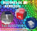 Buzon de Acrilico Impresion Full color Personalizados