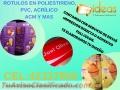 Rotulos en Poliestireno, Acrílicos, Acm