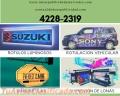 Rotulos luminosos, rotulacion vehicular, banderolas, impresión de lona