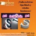 LETRAS TIPO BLOCK Y ROTULOS LUMINOSOS