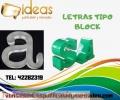 LETRAS TIPO BLOCK