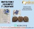 Invitaciones Creativas y Elegantes con diversos materiales
