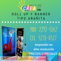ROLL UP Y BANNER TIPO ARAÑITA
