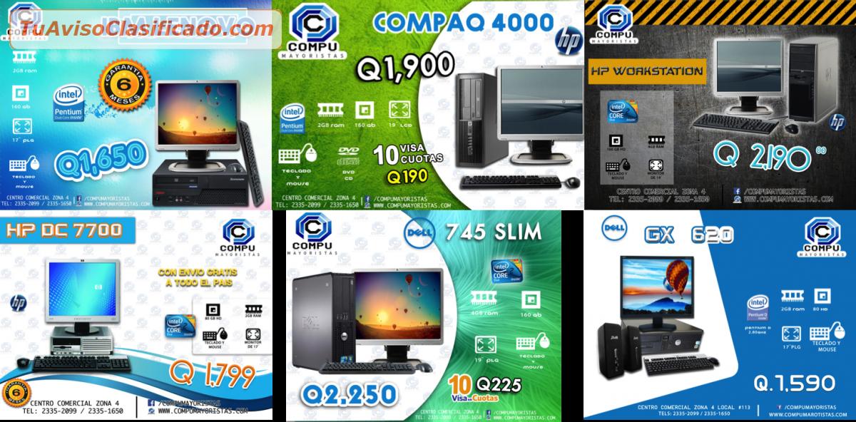 DESKOP ECONOMICAS Y UNAS MAS COMPLETAS - Computación e Informática...