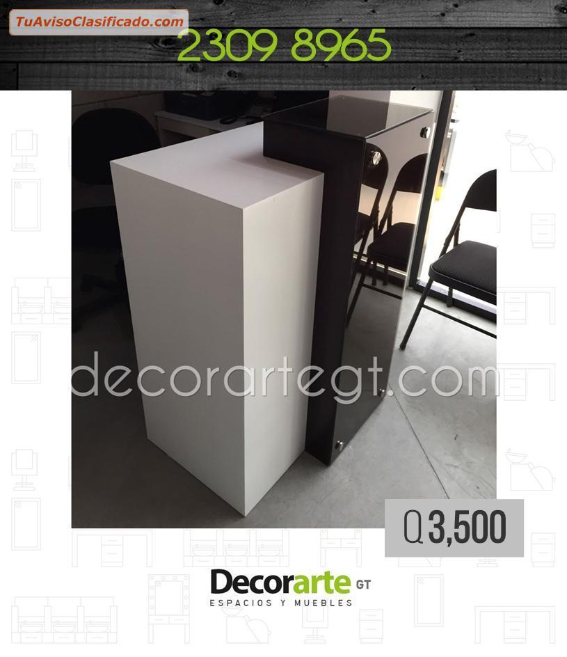 Muebles para salón de belleza, barbería y SPA _ #Decorarte_GT - Sa...