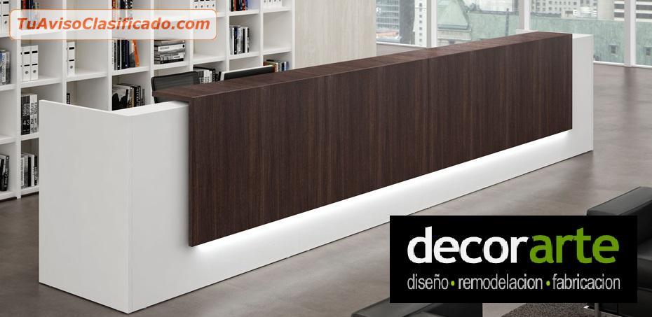 Mobiliario de madera y f rmica de art culos de oficina y for Recepciones para oficina