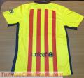 Camisolas del Real Madrid y del Barcelona...Temporada 2015/2016...logos y emblemas nítidos